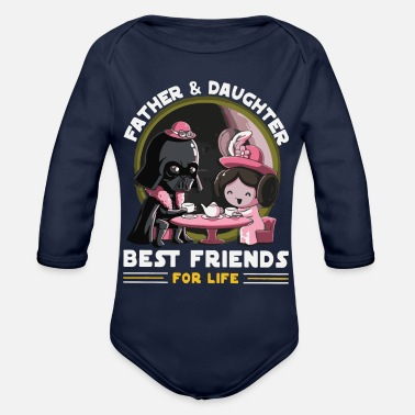 Father And Daughter Father and Daughter Best Friends for Life - Organic Long Sleeve Baby Bodysuit