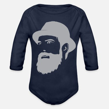 Beard Beard Man - Organic Long-Sleeved Baby Bodysuit