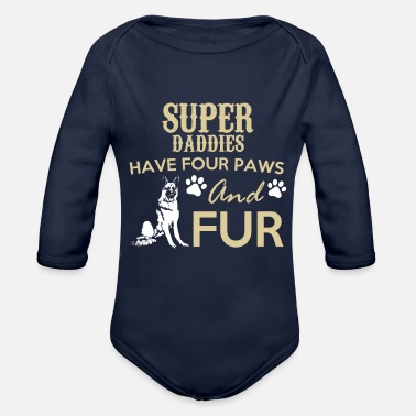 Fur SUPER FUR - Organic Long-Sleeved Baby Bodysuit
