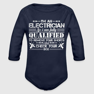 Electrician Tee Shirt - Organic Long Sleeve Baby Bodysuit