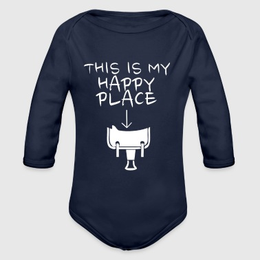 Happy Place Western Riding - Organic Long Sleeve Baby Bodysuit