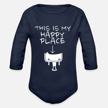 Western Riding Happy Place Western Riding - Organic Long Sleeve Baby Bodysuit