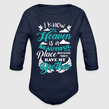 Heaven My Brother In Heaven T Shirt - Organic Long Sleeve Baby Bodysuit