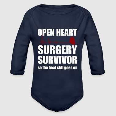 openheart surgery survivor - Organic Long Sleeve Baby Bodysuit