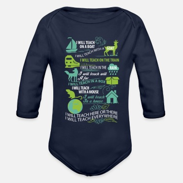 Teaching teach - Organic Long Sleeve Baby Bodysuit