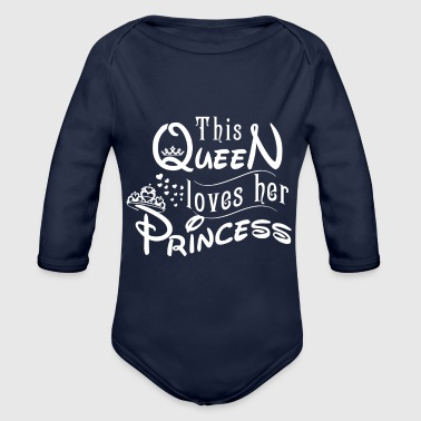 This queen loves her princess - Organic Long Sleeve Baby Bodysuit