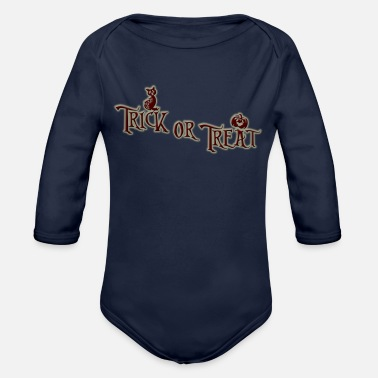 Treat Trick or treat - Organic Long-Sleeved Baby Bodysuit