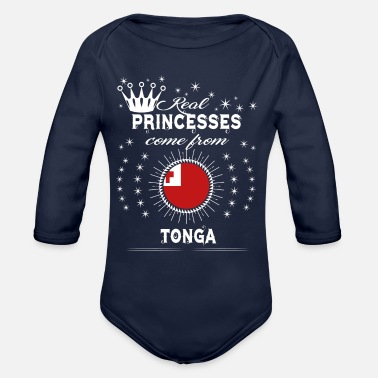 Tonga queen love princesses TONGA - Organic Long-Sleeved Baby Bodysuit