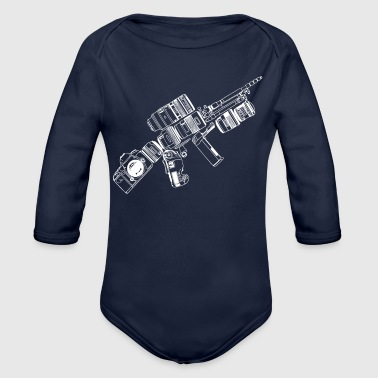 Photography Tactical Camera - Organic Long Sleeve Baby Bodysuit