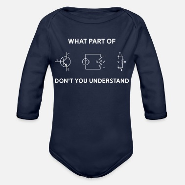 Electrical Engineering Electrical Engineer T-shirt Gift Funny Engineering - Organic Long-Sleeved Baby Bodysuit