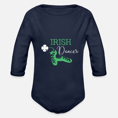 Dancer Irish Dancer Shamrock Dancing - Organic Long-Sleeved Baby Bodysuit