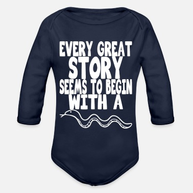 every great story seems to begin with a snake - Organic Long-Sleeved Baby Bodysuit