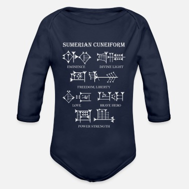 Hieroglyphics Sumerian Cuneiform - Organic Long-Sleeved Baby Bodysuit