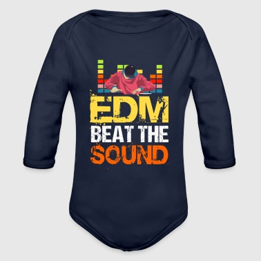 EDM Beat The Sound - Organic Long Sleeve Baby Bodysuit