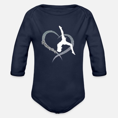 Gymnast Gifts for Gymnasts - Love gymnastics - Organic Long-Sleeved Baby Bodysuit