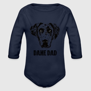 Dane Dad Great Dane - Organic Long Sleeve Baby Bodysuit