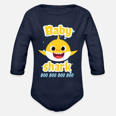 Baby Shark Baby shark doo doo shirt toddlers outfit girl - Organic Long Sleeve Baby Bodysuit
