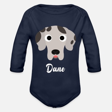 Great Dane Dane - Great Dane - Organic Long Sleeve Baby Bodysuit