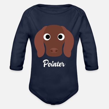 Pointer Pointer - English Pointer - Organic Long-Sleeved Baby Bodysuit