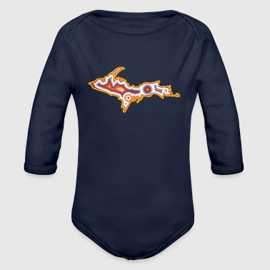 Upper Peninsula Michigan Upper Peninsula Agate - Organic Long Sleeve Baby Bodysuit