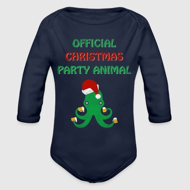 Christmas Party Animal Funny Holiday - Organic Long Sleeve Baby Bodysuit