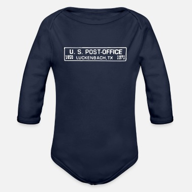 Post Luckenbach Post Office - Organic Long-Sleeved Baby Bodysuit