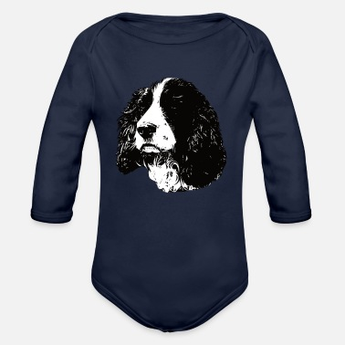 English Springer Spaniel English Springer Spaniel - Organic Long-Sleeved Baby Bodysuit
