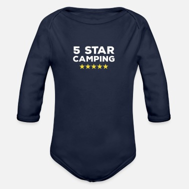 5 Stars 5 Star Camping - Organic Long-Sleeved Baby Bodysuit