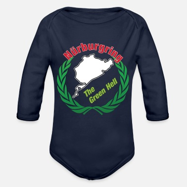 Nurburgring Track The Green Hell for Race Fans - Organic Long-Sleeved Baby Bodysuit