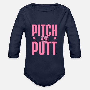 Pitch And Putt Pitch and Putt Pitch and Putt Pitch and Putt - Organic Long-Sleeved Baby Bodysuit