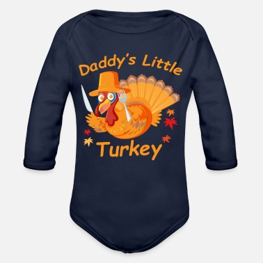 Little Father Father's little turkey - Organic Long-Sleeved Baby Bodysuit