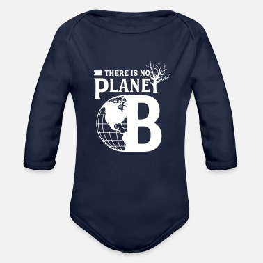 Change Stop Climate Change - Organic Long-Sleeved Baby Bodysuit