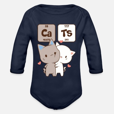 Cat A Table Periodic Table Shirt Cats Cats - Organic Long-Sleeved Baby Bodysuit