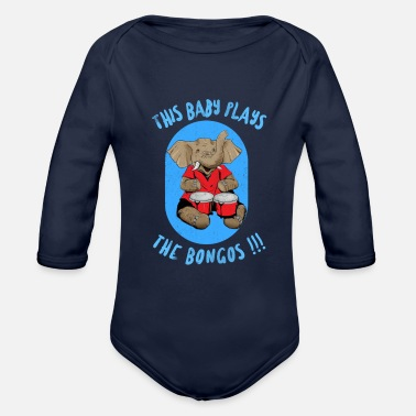 This Baby Plays The Bongos - Organic Long-Sleeved Baby Bodysuit