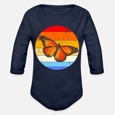 Monarch MONARCH BUTTERFLY Vintage Monarch - Organic Long-Sleeved Baby Bodysuit
