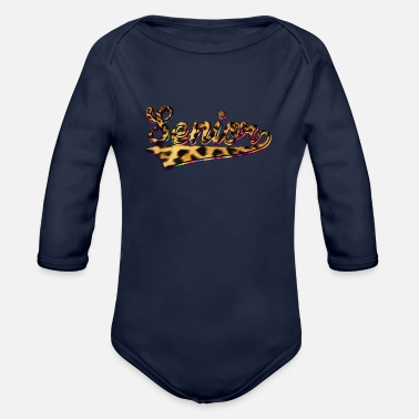 High School Senior Senior High School Senior Leopard Print - Organic Long-Sleeved Baby Bodysuit