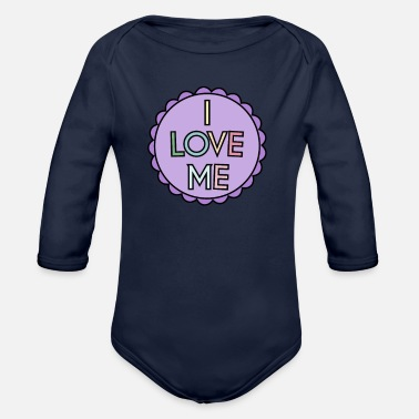 Weather Self Care I Love Me - Organic Long-Sleeved Baby Bodysuit