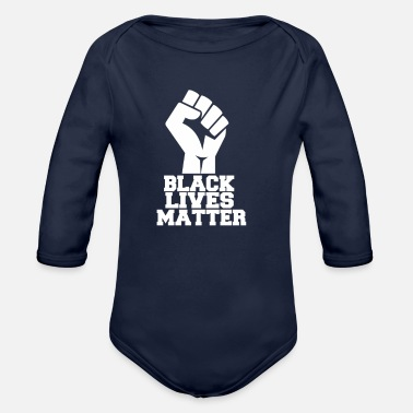Blm Black Lives Matter Fist BLM - Organic Long-Sleeved Baby Bodysuit