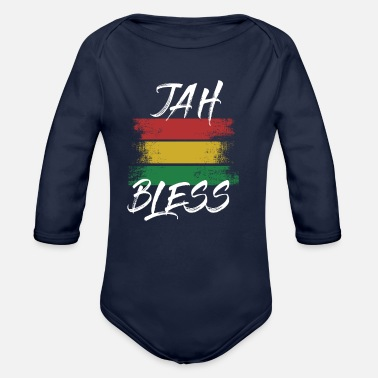 Rasta Rasta Jah Bless Shirt Tank Top Hoodie Rasta Shirt - Organic Long-Sleeved Baby Bodysuit