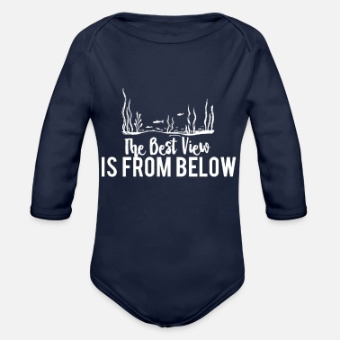 Diving The best view is from below - Organic Long-Sleeved Baby Bodysuit