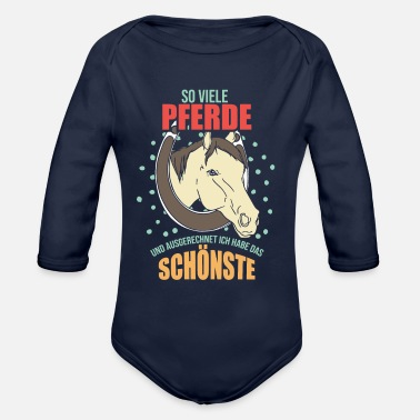 Riding Stable horse horse lover stable stable riding stable ridi - Organic Long-Sleeved Baby Bodysuit