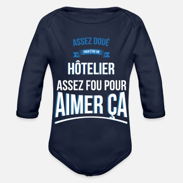 Hotelier Hotelier gifted crazy gift man - Organic Long-Sleeved Baby Bodysuit