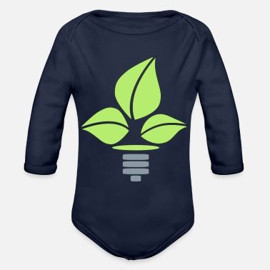 Eco Eco Lightbulb - Organic Long Sleeve Baby Bodysuit