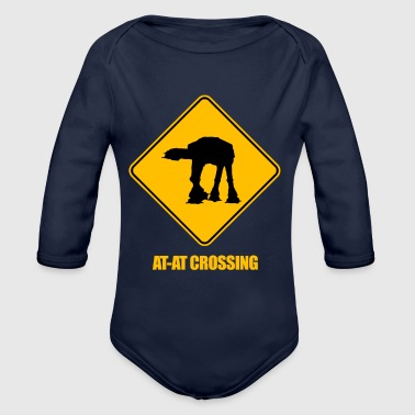 AT-AT Crossing - Organic Long Sleeve Baby Bodysuit
