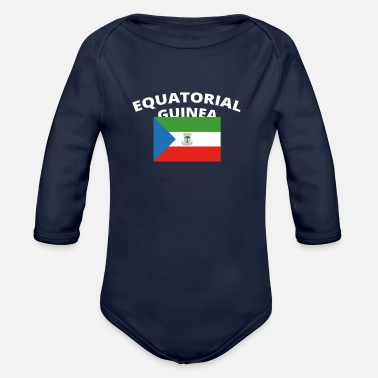 Guinness ich liebe home heimat love wurzeln EQUATORIAL GUIN - Organic Long-Sleeved Baby Bodysuit