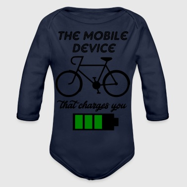 the mobile device - Organic Long Sleeve Baby Bodysuit