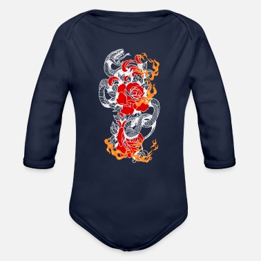 Legless Snake Dormant Periods Gift Ideas T-Shirt - Organic Long-Sleeved Baby Bodysuit