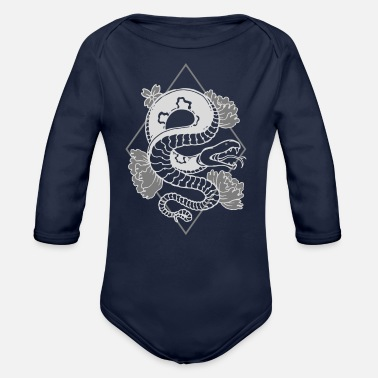 Legless Snake The Meat Eaters Animal Gift Ideas T-Shirt - Organic Long-Sleeved Baby Bodysuit