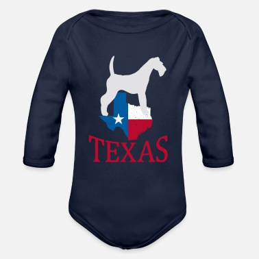 Original Texas Country Dalmatian Dog Gift Idea - Organic Long-Sleeved Baby Bodysuit