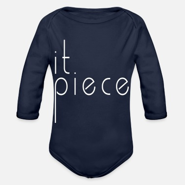 Piece it piece - Organic Long-Sleeved Baby Bodysuit
